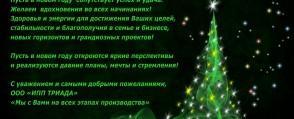 """Поздравление с Новым Годом и Рождеством от компании ООО """"ИПП ТРИАДА"""""""
